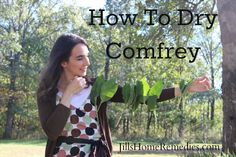 How To Hang Dry Comfrey
