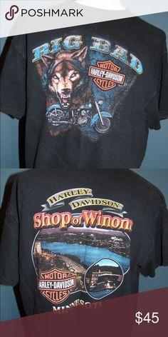 06a110af Vintage Harley-Davidson T-shirt Made in the USA, Big Bad Wolf,