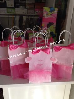 Doc McStuffins Lambie And Crew, Pink Tutu Party Gift Bags!!!