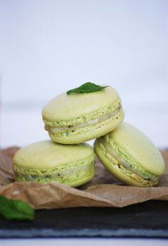 Fresh Mint and Black Pepper Macarons They were delicious when you made them for us!