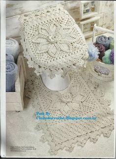 Crochet bathroom set ❤️LCB-MRS❤️ with diagrams ------ Clube do Crochê: Jogo de banheiro (com gráficos)
