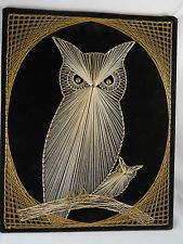 OWL & BABY STRING ART WALLHANGING