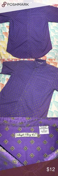 Bugle Boy Diamond Shortsleeve Buttondown Shirt Size XL - Condition 9.5/10 bugle boy Shirts Casual Button Down Shirts