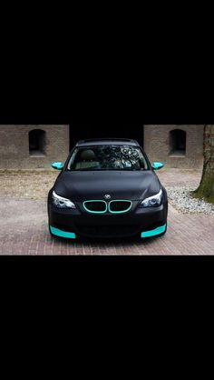Matte black and tiffany teal bmw