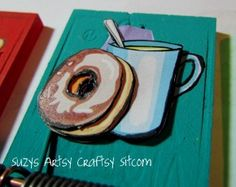 How to make cute magnet clips from mousetraps!  Great use of 3D paper crafting too!