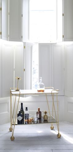 Be the host-with-the-most with this Luxe Drinks Trolley from Oliver Bonas