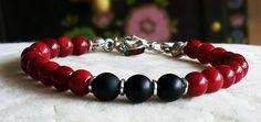 Men's Bracelet. Red coral charm. Yoga Jewelry, Wrist Mala Beads, Healing, Calming, Positive Energy, Love, Friendship, by DenizKumu on Etsy https://www.etsy.com/listing/273404798/mens-bracelet-red-coral-charm-yoga