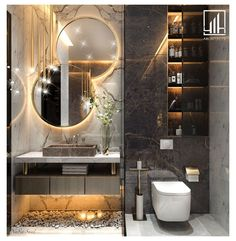 Modern Luxury Bathroom, Bathroom Design Luxury, Modern Bathroom Design, Luxury Master Bathrooms, Small Bathrooms, Wc Design, Toilet Design, Floor Design, Home Room Design