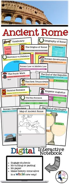 These 15 digital interactive notebook graphic organizers for Google Drive will help students organize information about the ancient Romans! Answer key included!