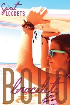 The Perfect Beach Accessory! Boho Bracelets Spirit Lockets