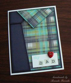 masculine shirt card by Brenda Frerichs using CTMH Later Sk8r paper
