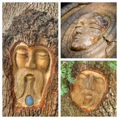 """Once upon a time (the early 1980s to be exact), a skilled craftsman named Keith Jennings set out on a mission to leave his mark on St. Simons Island. With woodworking tools in hand, Keith meticulously carved intricate faces into several centuries-old live oak trees along St. Simons Island. Think Grandmother Willow from Disney Classic """"Pocahontas.""""Aptly named Tree Spirits, these faces are all unique and their stories are left to your interpretation."""