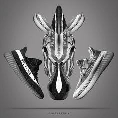 sneaker idea! yeezy v2!zebra