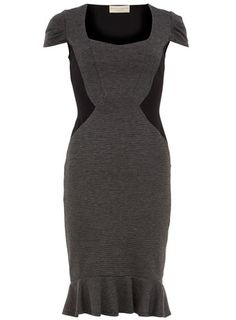 Grey jacquard fishtail dress. OmgCanIPleaseHave!
