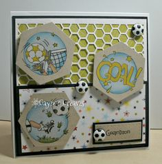 Designs by Gaynor Greaves - January 2016 Birthday Cards For Boys, Man Birthday, Boy Cards, Kids Cards, Soccer Cards, Exploding Boxes, Masculine Cards, Lily Of The Valley, Funny Cards