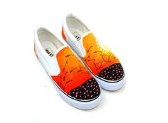 The Arrow Of Love Themed Couple Hand Painted Shoes,Low-top Painted Canvas Shoes