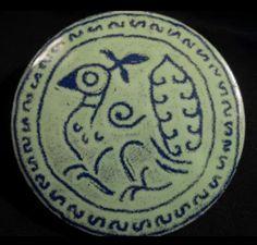 Playbird enamel on copper brooch, 1960s.