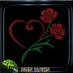 Beautiful Rose Flower Rhinestone Transfer Design Photo, Detailed about Beautiful…