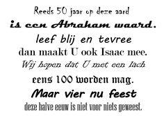 Een korte rijm/gedicht voor op de Abraham.