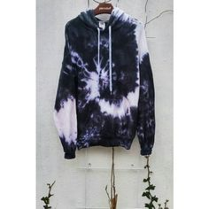 The Black Snake Tie Dye Hoodie, black fashion, indie, grunge ❤ liked on Polyvore featuring tops, hoodies, hooded pullover, tie die tops, tie dyed hoodie, tye dye hoodie and tie dye hooded sweatshirt