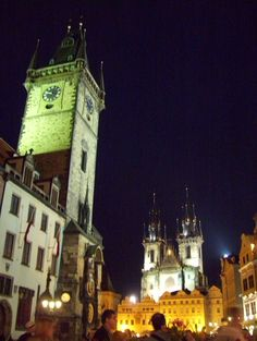 Prague, Czech Republic, by night