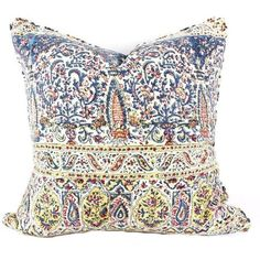 Vintage Indian Hand Block Pillow ($120) ❤ liked on Polyvore featuring home, home decor, throw pillows, pillows and paisley throw pillows
