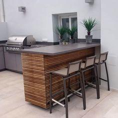 Outdoor Bbq Kitchen, Outdoor Kitchen Design, Outdoor Cooking, Outdoor Kitchens, Grill Area, Bbq Area, Built In Bbq, Backyard Patio Designs, Patio Ideas