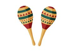 Pair Of Maracas Flat Vector