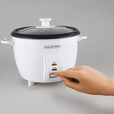 Proctor Silex 5-Cups uncooked resulting in 10-Cups Cooked Rice Cooker, White (37533N) // http://cookersreview.us/product/proctor-silex-5-cups-uncooked-resulting-in-10-cups-cooked-rice-cooker-white-37533n/  #cooker #pressure #electric