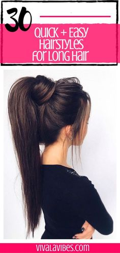 30 Easy Hairstyles for Long Hair 30 Easy Hairstyles for Long Hair <br> Need some everyday hairstyles for long hair? Check out these quick and easy step by step tutorials and videos for simple formal or casual fall hairstyles. Hairstyle Curly, Casual Hairstyles For Long Hair, Easy Everyday Hairstyles, Easy Summer Hairstyles, Short Hair Updo, Easy Hairstyles For Long Hair, Braids For Long Hair, Fall Hairstyles, School Hairstyles