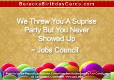 Jobs Council Barack Obama Birthday, Green Business, Birthday Cards, Reading, Party, Card Ideas, Funny, Crafts, Bday Cards