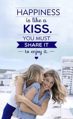Happiness is like a kiss. #tagdeskusses #kissingday #kiss #love #friendship #nivea