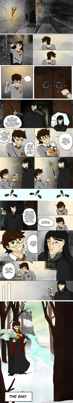 More Cookies for Severus by ~Thrumugnyr on deviantART. I'm not sure whether a Patronus can deliver things, but aside from that... FEELS!!