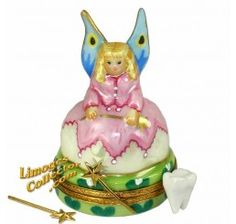 Tooth Fairy with Golden Wand & Tooth (Beauchamp) Limoges Box.