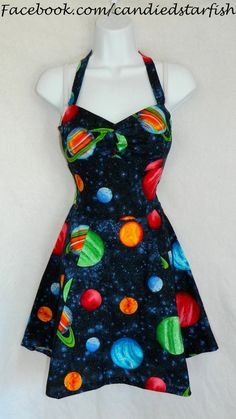 Custom outer space dress by CandiedStarfish on Etsy, $40.00