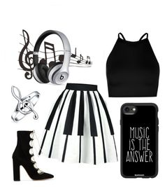 """ Music is the Answer "" by joy621 on Polyvore featuring Boohoo, Valentino, Casetify, Bling Jewelry and Beats by Dr. Dre"