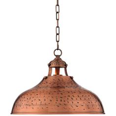 "Essex 16"" Wide Dyed Copper Metal Pendant Light - #4K747 