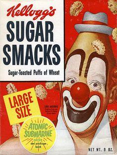 Sugar Smacks cereal box