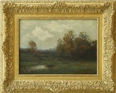 John Francis Murphy, American Tonalist, Late Autumn, oil on canvas, 12 x 16