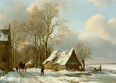Landscape Drawings, Landscape Art, Landscape Paintings, European Paintings, Old Paintings, Amsterdam Art, Winter Painting, Dutch Painters, Winter Landscape