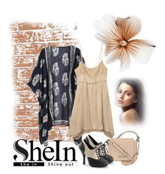 """www.shein.com/Navy-Vintage-Floral-Loose-Kimono-p-220433-cat-1878.html"" by danigrll ❤ liked on Polyvore featuring Wet Seal, Kenneth Cole and vintage"