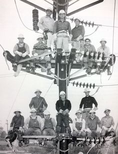 "The saying goes, ""The more things change, the more they stay the same."" Here's a picture taken in 1965 of apprentice linemen and electricians, and their instructors who are taking a break from training. Today our crews go through a rigorous training program, and their uniforms are similar, as well."