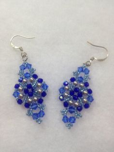 Beadwoven Earrings by BeadingBeeCreations on Etsy