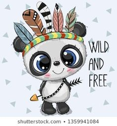 baby pandas Cute Cartoon tribal baby Panda with feathers on a white background Baby Animals, Cute Animals, Baby Pandas, Cute Cartoon Animals, Wild Animals, Panda Lindo, Cute Panda Wallpaper, Feather Vector, Cartoon Panda
