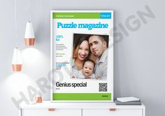 Unique Scandinavian type puzzle (clue-in-squares) with your picture and personal message to celebrate anniversary, wedding, birthday and other events personal gift, photogift, wedding, birth announcement,