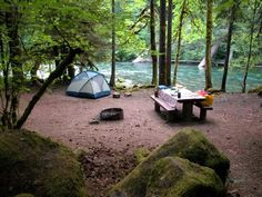 Ahhh...Paradise Campground The Color of the Water~Amazing McKenzie River McKenzie Bridge, Oregon