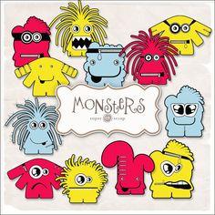SUPER FREEBIES Blog: Freebies Monsters Kit