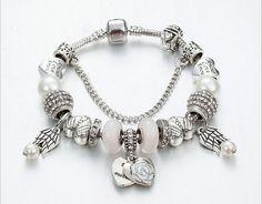 $13.2 sliver coating combination charm bracelet