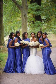 A Modern and Glamorous Nigerian Wedding in London - Munaluchi Bridal Magazine #bluebridesmaidsdress #wedding #natualbride