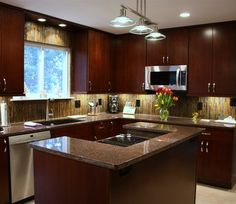 Dakota Mahogany Granite Design, Pictures, Remodel, Decor and Ideas